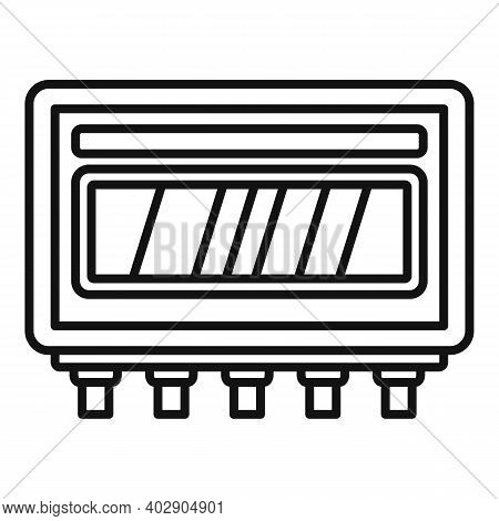 Electric Utilities Icon. Outline Electric Utilities Vector Icon For Web Design Isolated On White Bac
