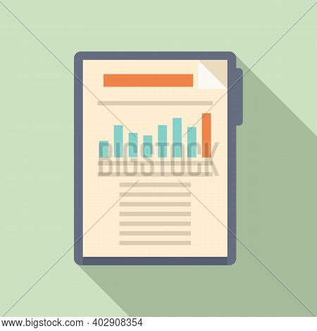 Estimator Clipboard Icon. Flat Illustration Of Estimator Clipboard Vector Icon For Web Design