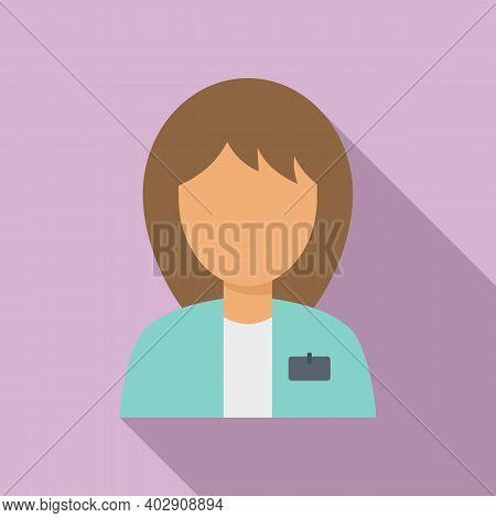Woman Estimator Icon. Flat Illustration Of Woman Estimator Vector Icon For Web Design