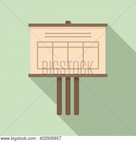 Billboard Estimator Icon. Flat Illustration Of Billboard Estimator Vector Icon For Web Design