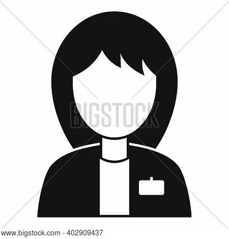 Woman Estimator Icon. Simple Illustration Of Woman Estimator Vector Icon For Web Design Isolated On