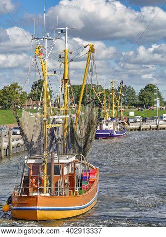 Harbor Of Greetsiel At North Sea,east Frisia,germany