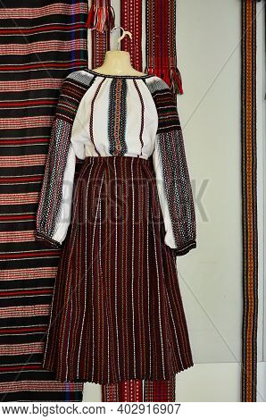 Samples Of Traditional Folk Weaving. Ukraine.lviv.modern Folk Weaving Of Ukraine.