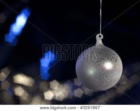 Translucent Christmas Bauble In Dark Back