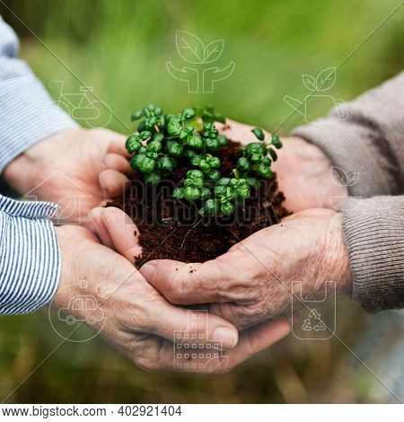 Smart farming green plant product agricultural technology social media post
