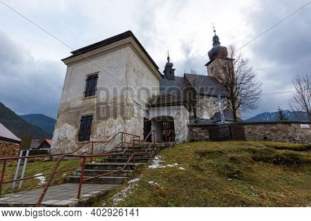 old church in the town of Liptovsky Jan. Take it in Slovakia