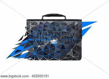 Vector Diplomat In Paper Art Style. Digital Art