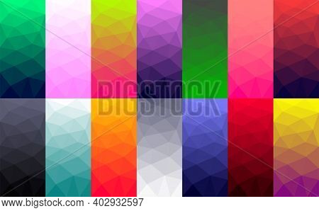 Vector Backgrounds In Low Poly Style. Digital Art