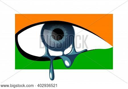 Vector Eye Like Flag In Graphic Style