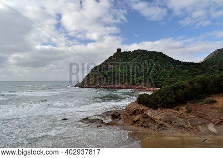 View Of Porto Ferro Coast, Sassari, Sardinia