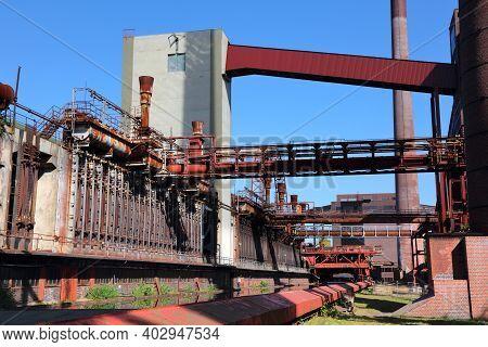 Essen, Germany. Industrial Heritage Of Ruhr Region. Zollverein, A Unesco World Heritage Site.