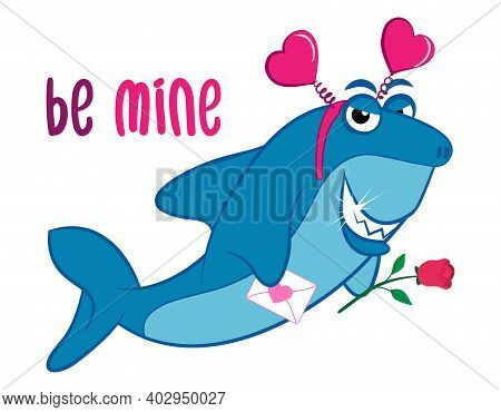 Be Mine Valentine - T-shirts, Hoodie, Tank, Gifts. Vector Illustration Text For Valentine's Day. Ins