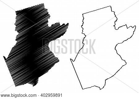 Somerset County, New Jersey (u.s. County, United States Of America, Usa, U.s., Us) Map Vector Illust