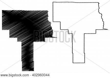 Grant County, New Mexico (u.s. County, United States Of America, Usa, U.s., Us) Map Vector Illustrat