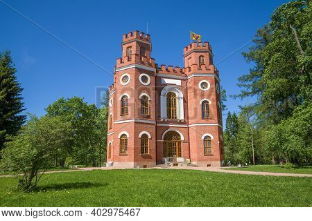 St. Petersburg, Russia - May 29, 2018: View Of The Arsenal Palace Pavilion On A Sunny May Day. Tsars
