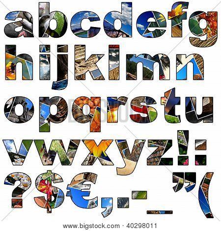 Photo Collage Alphabet - Lowercase