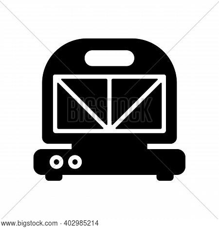 Kitchen Sandwich Maker Vector Glyph Icon. Electric Kitchen Appliance. Graph Symbol For Cooking Web S