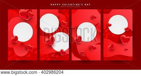 Trendy Editable Valentines Day Vertical Banner Template Set For Banner, Flyer, Brochure, Story Or St