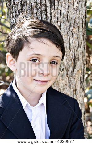 Handsome Boy Close-Up
