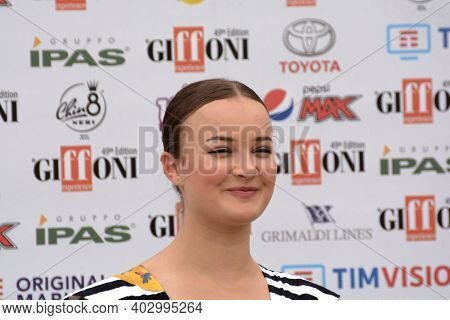 Giffoni Valle Piana, Sa, Italy - July 22, 2019 : Hildegard De Stefano At Giffoni Film Festival 2019