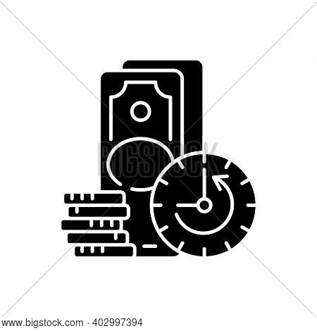 Extension Black Glyph Icon. Skipping Certain Immediate Payments. Increasing Original Maturity Loan D