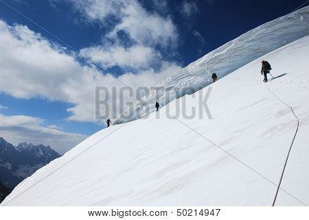Mountaineers On The Slope