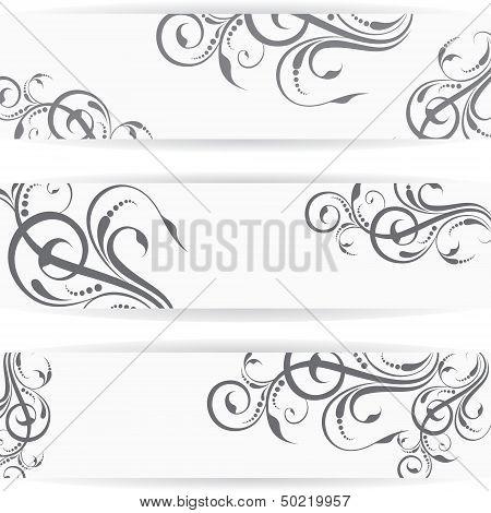 Website header or banner set with beautiful floral design