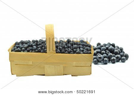 punnet with blueberries