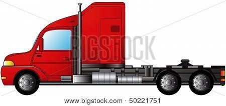 isolated heavy semi truck