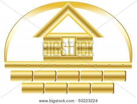 golden house and bricks
