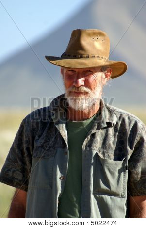 Old Farmer With Hat