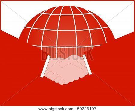 business symbol with handshake