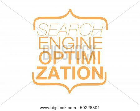 SEO web, Search Engine Optimizaziont, ranking, orange text isolated