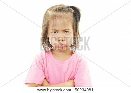 Little girl gets mad
