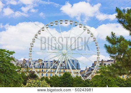 Ferris Wheel at the Musee du Louvre poster