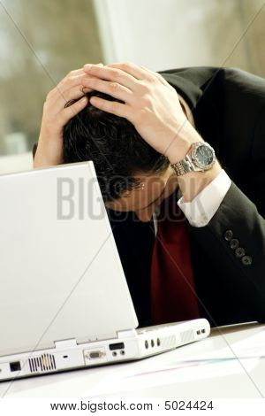 Business Man Is Frustrated