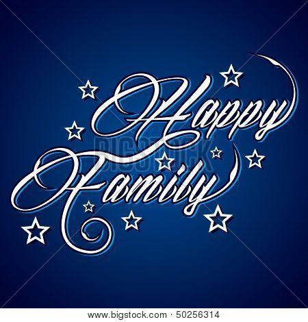 Creative Happy family greeting
