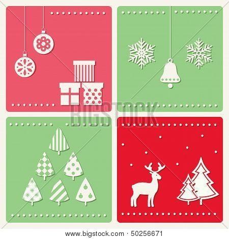 Set of winter celebration images.