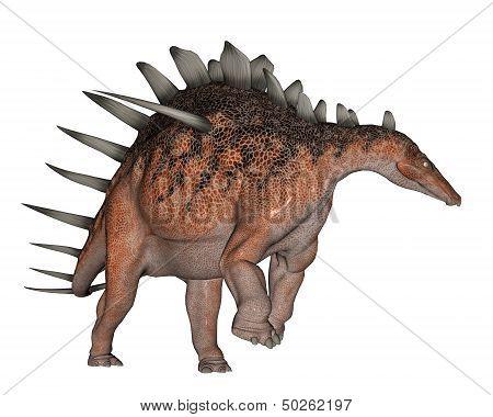 Kentrosaurus dinosaur walking - 3D render