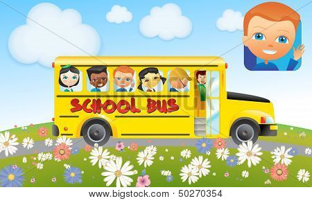 School Bus with Kids - Canadian style
