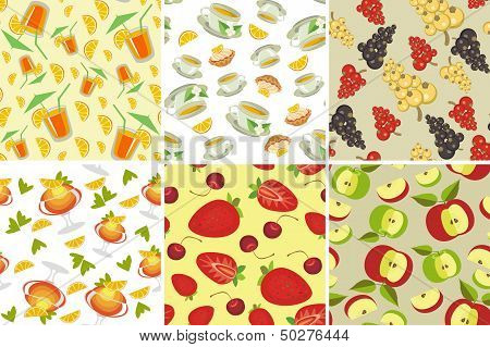 Seamless Background With Food...