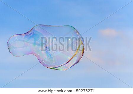 Soapbubble in sky