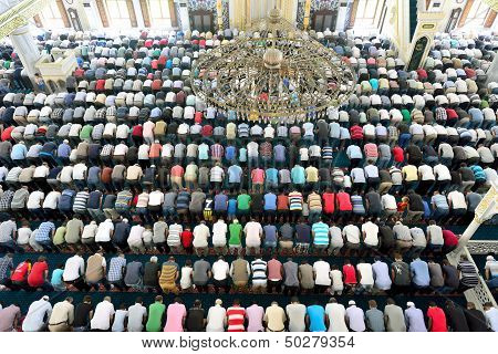 Muslims In The Mosque For Prayer Was Pure