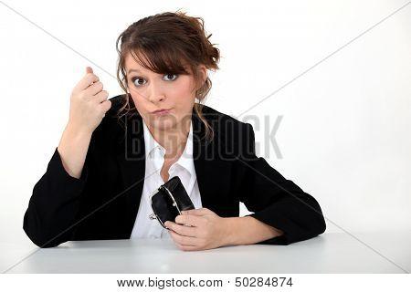 Penniless businesswoman