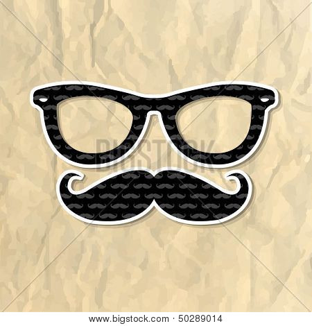 Hipster Symbol, Vector Illustration