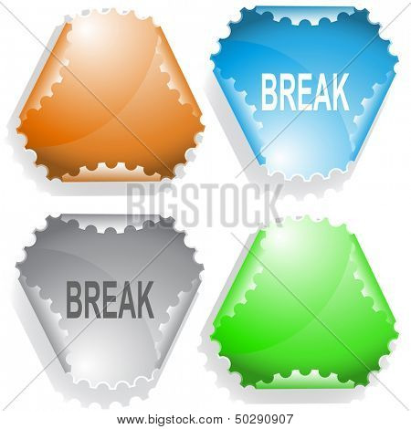 Break. Raster sticker. Vector version is in my portfolio. poster