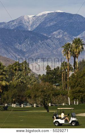 Golf Cart And Wind Farm