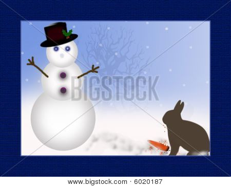 Snowman Missing Carrot nose