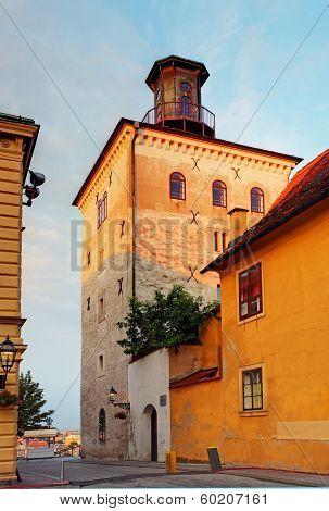 Lotrscak Tower In Zagreb, Croatia