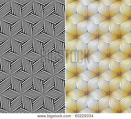 Seamless Floral Pattern. Rasterized Version